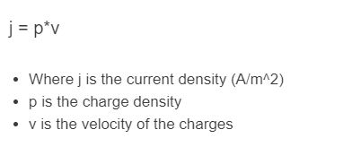 current density formula