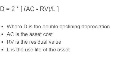 double declining depreciation formula
