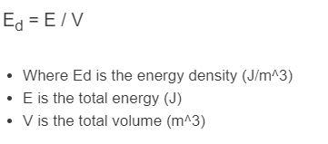 energy density formula