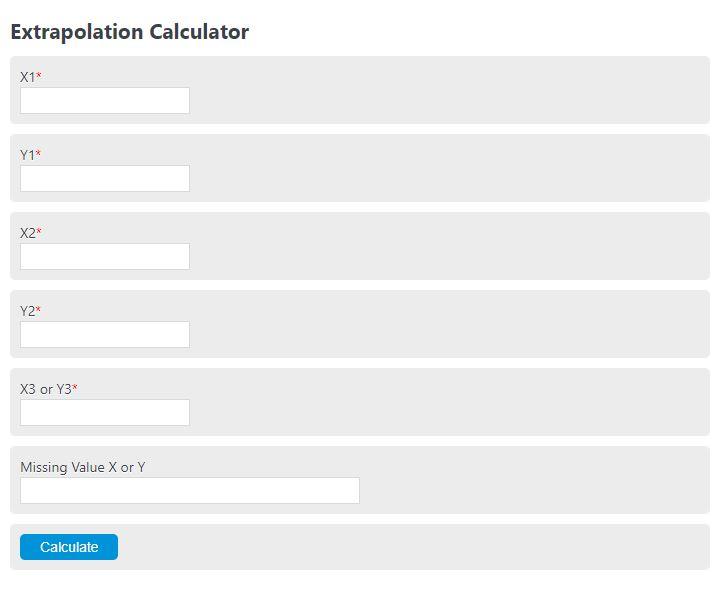 extrapolation calculator
