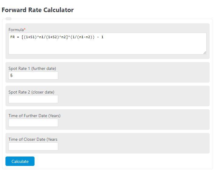 forward rate calculator