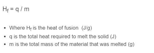 heat of fusion formula