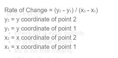 rate of change formula
