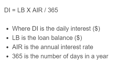 daily interest formula