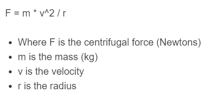 centrifugal force formula
