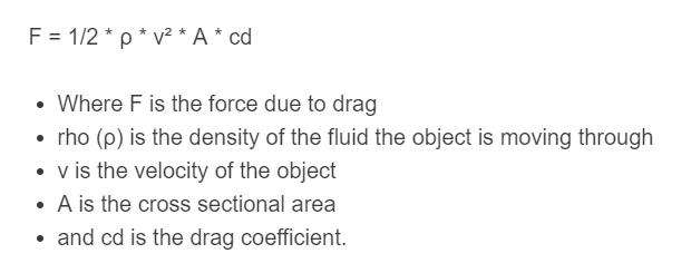 drag equation formula