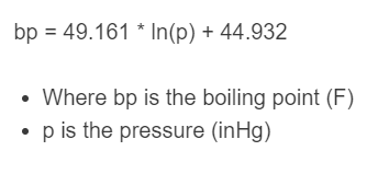 boiling point formula