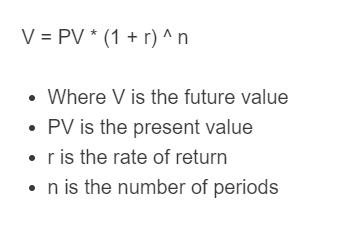 future value formula