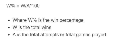 win percentage formula