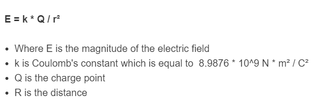 electric field formula