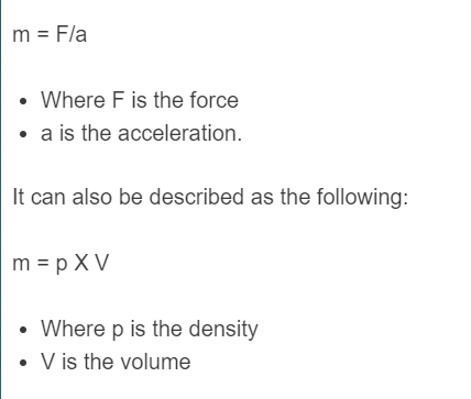 mass formula