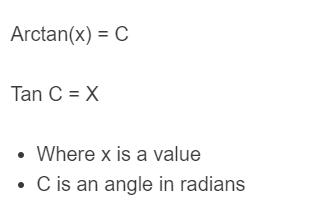 arctan formula