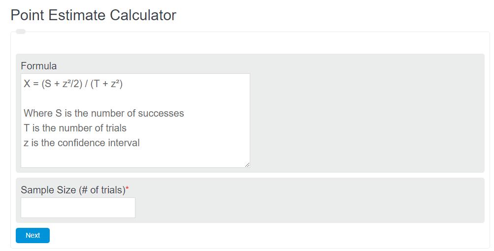 point estimate calculator
