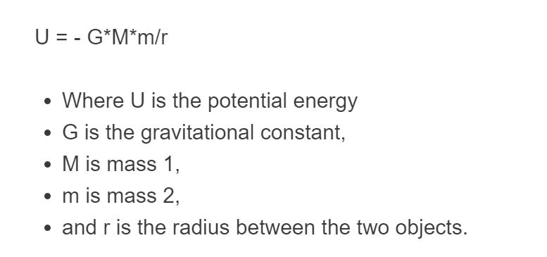 gravitational potential energy formula