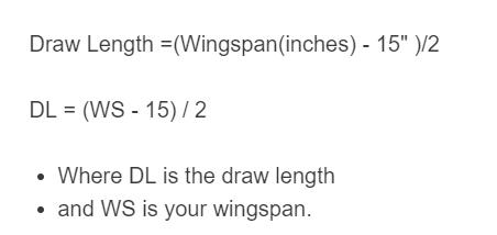draw length formula