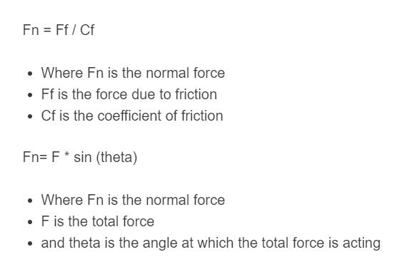 normal force formula