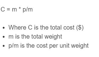 sand cost formula