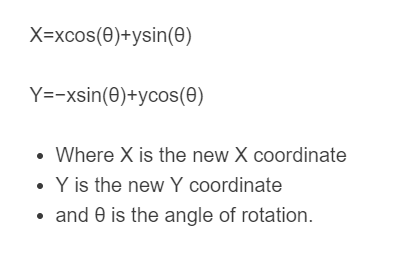 rotation by new coordinates formula