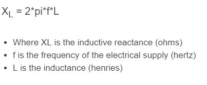 inductive reactance formula