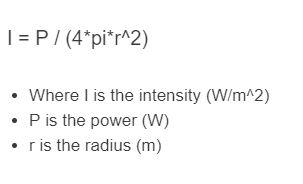 intensity formula