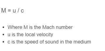 mach number formula