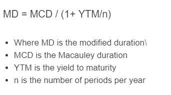 modified duration formula