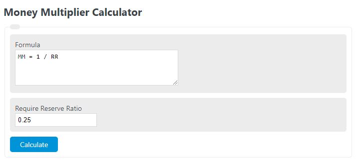 money multiplier calculator