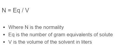 normality formula