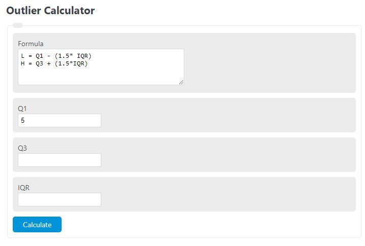 outlier calculator