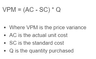 price variance formula
