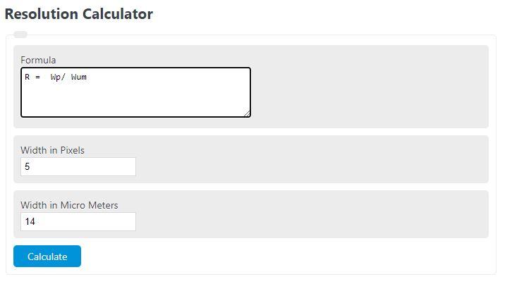 resolution calculator
