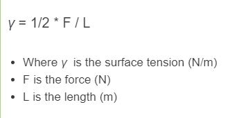 surface tension formula