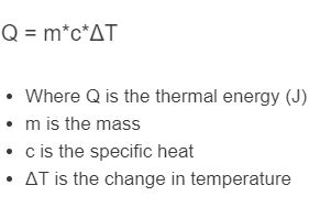 thermal energy formula