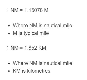 nautical mile formula