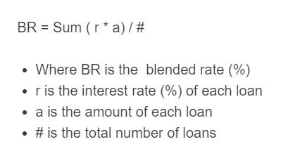 blended rate formula