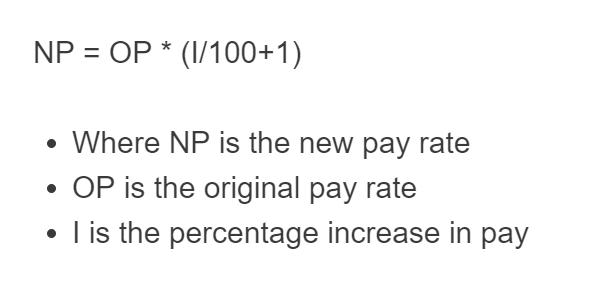 pay raise formula