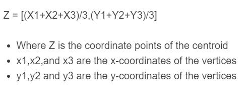 centroid formula