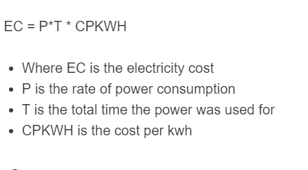 electricity cost formula