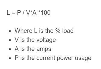 electricity load formula