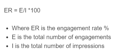 engagement rate formula