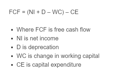 free cash flow formula