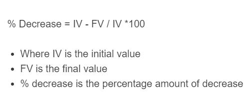 percent decrease formula