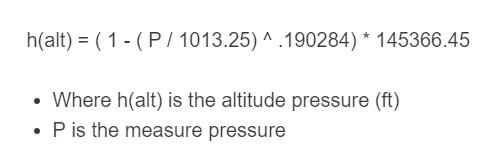 pressure altitude formula