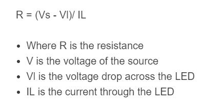 led resistor formula