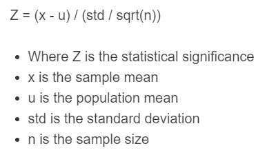 statistical significance formula