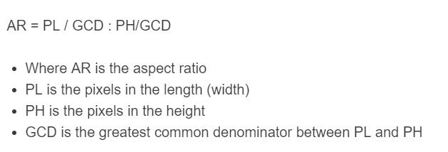aspect ratio formula