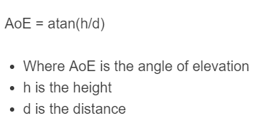 angle of elevation formula