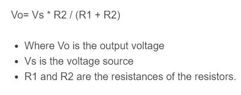 resistor divider formula