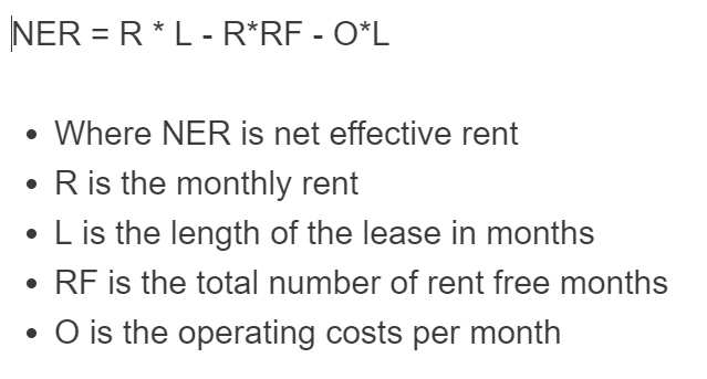 net effective rent formula