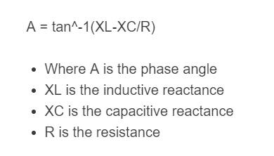 phase angle formula